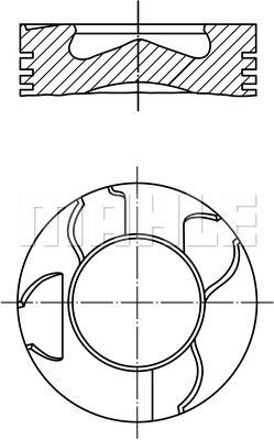Piston moteur MAHLE 003 15 01 (X1)