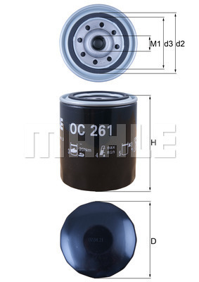 Filtre a huile MAHLE OC 261 (X1)