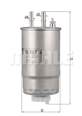 Filtre a carburant MAHLE KL 567 (X1)