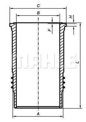 Chemise de cylindre MAHLE 007 WN 79 01 (X1)