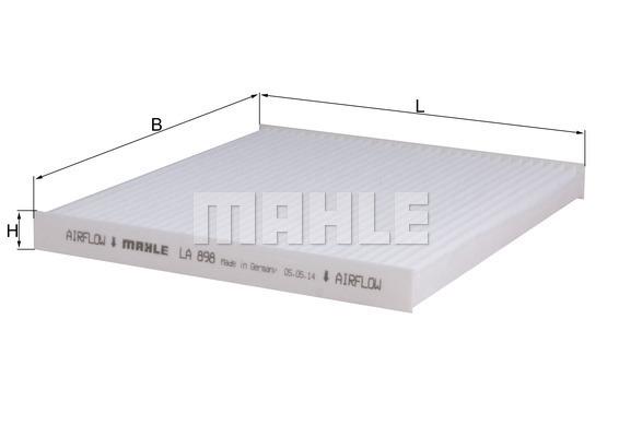 Filtre d'habitacle MAHLE LA 898 (X1)