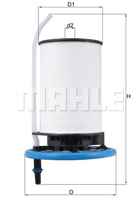 Filtre a carburant MAHLE KX 398 (X1)