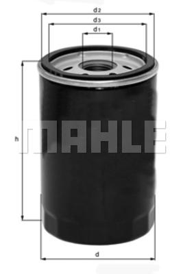 Filtre a huile MAHLE OC 323 (X1)