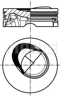 Piston moteur MAHLE 028 PI 00130 001 (X1)