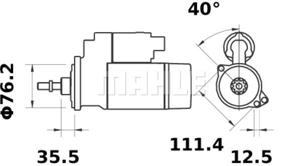 Demarreur MAHLE MS 316 (X1)