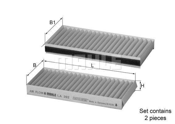 Filtre d'habitacle MAHLE LA 392/S (X1)
