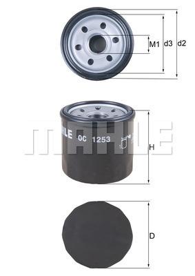 Filtre a huile MAHLE OC 1253 (X1)