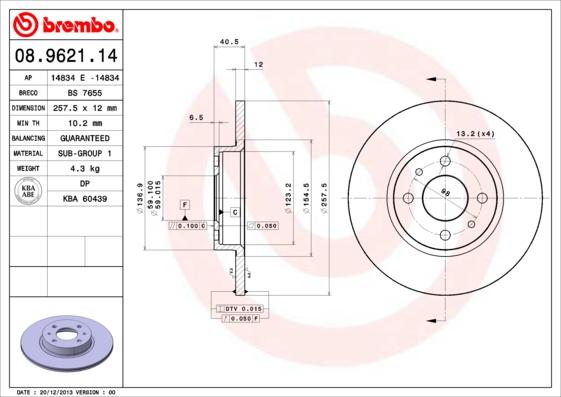 Disque de frein avant BRECO BS 7655 (Jeu de 2)