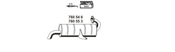 Silencieux, catalyseur, intermediaire ERNST 040920 (X1)