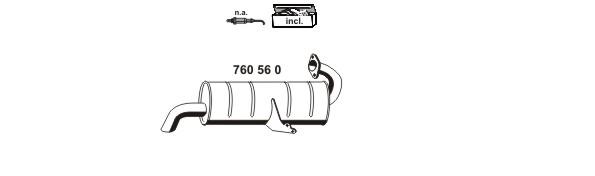 Silencieux, catalyseur, intermediaire ERNST 040921 (X1)