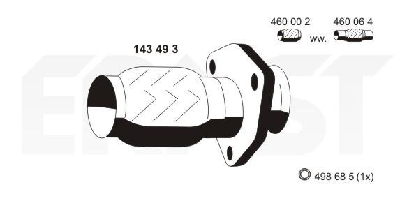 Tuyau flexible, échappement ERNST 143493 (X1)