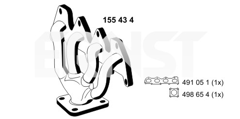 Collecteur d'echappement ERNST 155434 (X1)