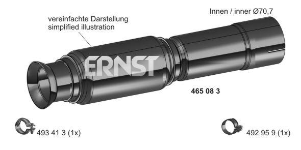 Tuyau flexible, échappement ERNST 465083 (X1)
