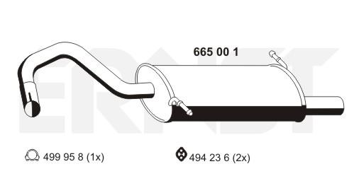 Silencieux arriere ERNST 665001 (X1)