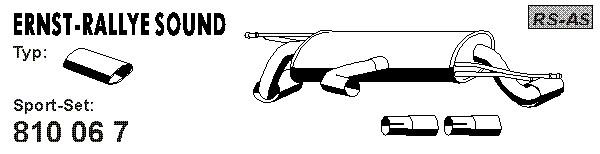 Silencieux sport ERNST 810067 (X1)