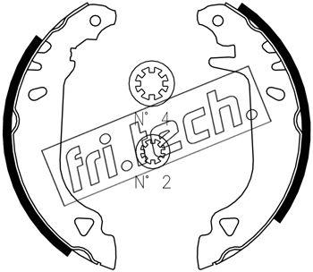 kit de frein arrière simple ou prémonté fri.tech. 1034.090S (Jeu de 4)