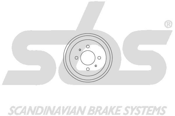Tambour de frein arriere sbs 1825253007 (X1)