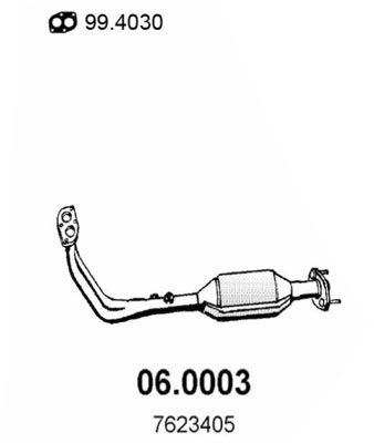 Catalyseur ASSO 06.0003 (X1)