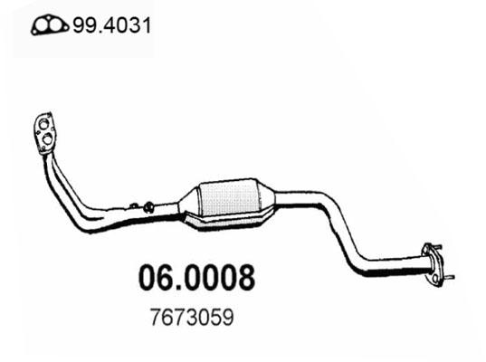 Catalyseur ASSO 06.0008 (X1)