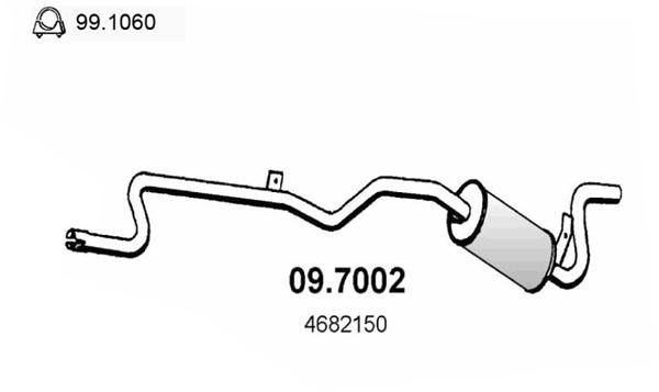 Silencieux arriere ASSO 09.7002 (X1)