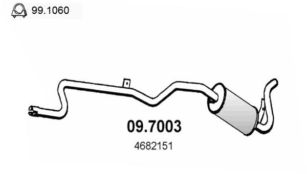 Silencieux arriere ASSO 09.7003 (X1)