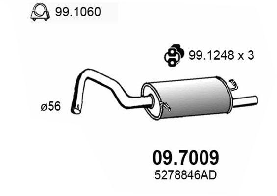 Silencieux arriere ASSO 09.7009 (X1)