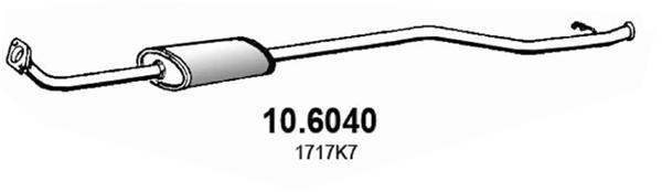 Silencieux central ASSO 10.6040 (X1)