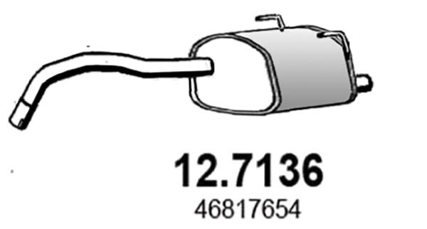 Silencieux arriere ASSO 12.7136 (X1)