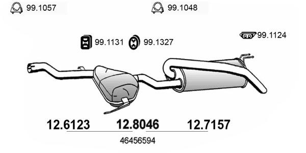 Silencieux arriere ASSO 12.8046 (X1)