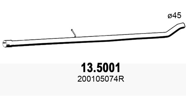 Tube d'echappement ASSO 13.5001 (X1)
