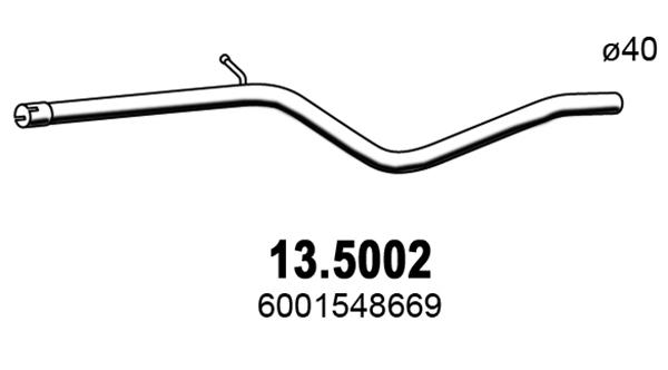 Tube d'echappement ASSO 13.5002 (X1)