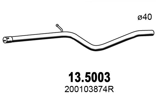 Tube d'echappement ASSO 13.5003 (X1)