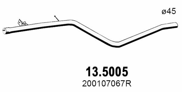 Tube d'echappement ASSO 13.5005 (X1)