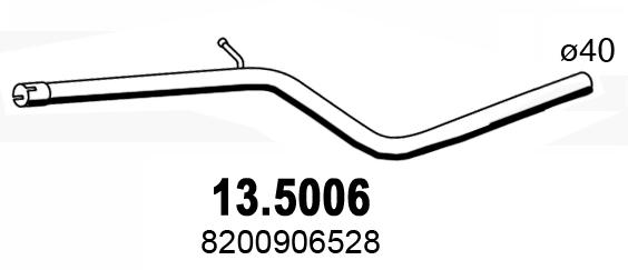 Tube d'echappement ASSO 13.5006 (X1)