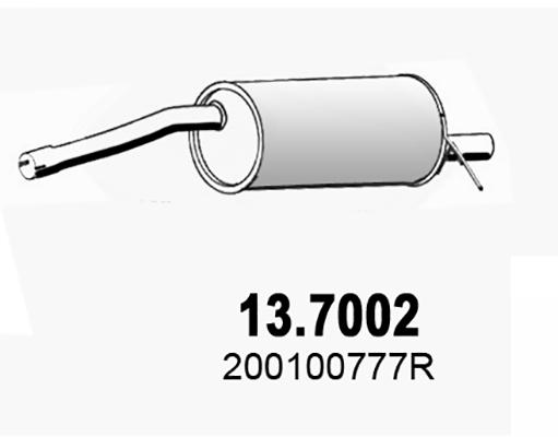 Silencieux arriere ASSO 13.7002 (X1)