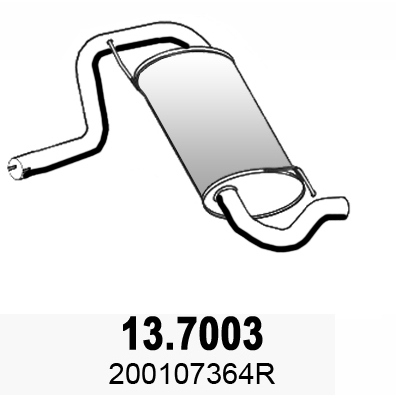 Silencieux arriere ASSO 13.7003 (X1)