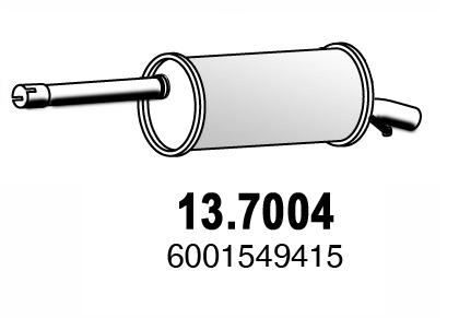 Silencieux arriere ASSO 13.7004 (X1)