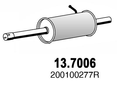 Silencieux arriere ASSO 13.7006 (X1)