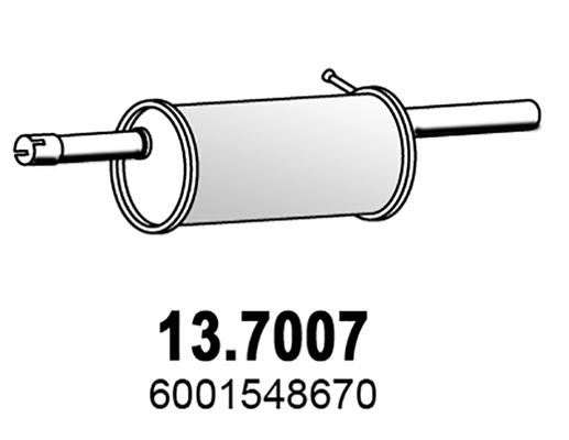 Silencieux arriere ASSO 13.7007 (X1)