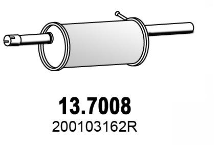 Silencieux arriere ASSO 13.7008 (X1)