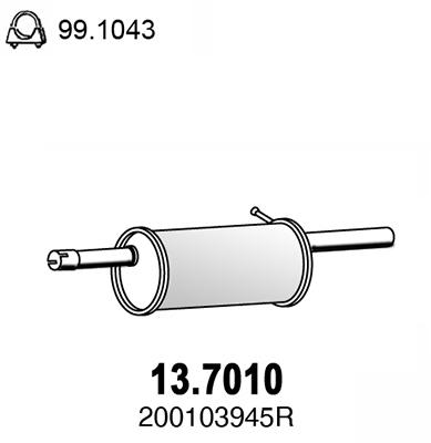 Silencieux arriere ASSO 13.7010 (X1)