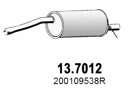 Silencieux arriere ASSO 13.7012 (X1)