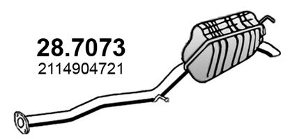 Silencieux arriere ASSO 28.7073 (X1)