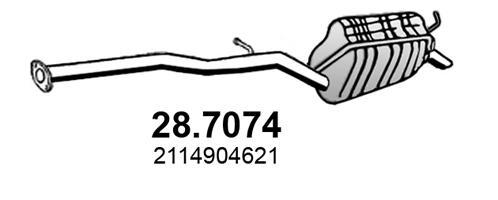 Silencieux arriere ASSO 28.7074 (X1)