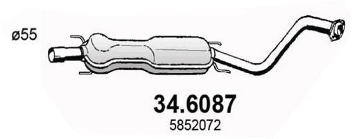 Silencieux central ASSO 34.6087 (X1)