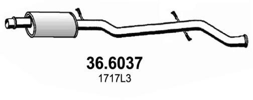 Silencieux central ASSO 36.6037 (X1)