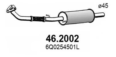 Silencieux avant ASSO 46.2002 (X1)