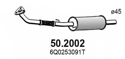 Silencieux avant ASSO 50.2002 (X1)