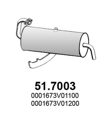 Silencieux arriere ASSO 51.7003 (X1)