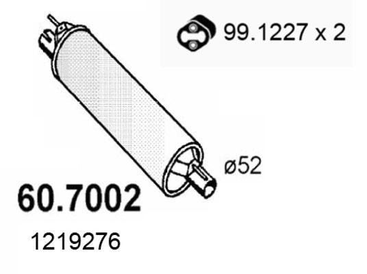 Silencieux arriere ASSO 60.7002 (X1)